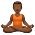 Man in Lotus Position: Medium-Dark Skin Tone on Apple iOS 12.1