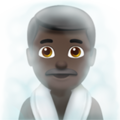 Man in Steamy Room: Dark Skin Tone on Apple iOS 12.1