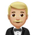 Man in Tuxedo: Medium-Light Skin Tone on Apple iOS 12.1