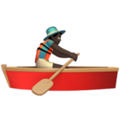 Man Rowing Boat: Dark Skin Tone on Apple iOS 12.1