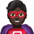 Man Superhero: Dark Skin Tone on Apple iOS 12.1
