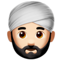 Man Wearing Turban: Light Skin Tone on Apple iOS 12.1
