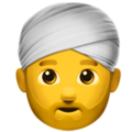 Person Wearing Turban on Apple iOS 12.1