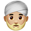 Person Wearing Turban: Medium-Light Skin Tone on Apple iOS 12.1