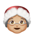 Mrs. Claus: Medium-Light Skin Tone on Apple iOS 12.1
