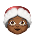 Mrs. Claus: Medium-Dark Skin Tone on Apple iOS 12.1