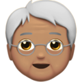 Older Person: Medium Skin Tone on Apple iOS 12.1