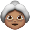 Old Woman: Medium Skin Tone on Apple iOS 12.1