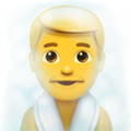 Person in Steamy Room on Apple iOS 12.1