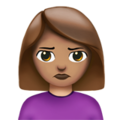 Person Pouting: Medium Skin Tone on Apple iOS 12.1