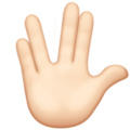 Vulcan Salute: Light Skin Tone on Apple iOS 12.1
