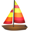 Sailboat on Apple iOS 12.1