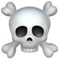 Skull and Crossbones on Apple iOS 12.1