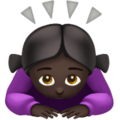Woman Bowing: Dark Skin Tone on Apple iOS 12.1
