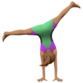 Woman Cartwheeling: Medium Skin Tone on Apple iOS 12.1