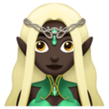 Woman Elf: Dark Skin Tone on Apple iOS 12.1