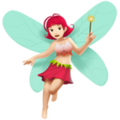 Woman Fairy: Light Skin Tone on Apple iOS 12.1