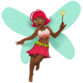 Woman Fairy: Medium-Dark Skin Tone on Apple iOS 12.1