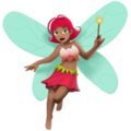 Woman Fairy: Medium Skin Tone on Apple iOS 12.1