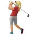 Woman Golfing: Medium-Light Skin Tone on Apple iOS 12.1