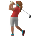 Woman Golfing: Medium Skin Tone on Apple iOS 12.1