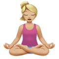 Woman in Lotus Position: Medium-Light Skin Tone on Apple iOS 12.1
