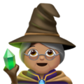 Woman Mage: Medium Skin Tone on Apple iOS 12.1
