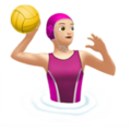 Woman Playing Water Polo: Light Skin Tone on Apple iOS 12.1