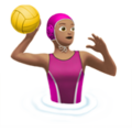 Woman Playing Water Polo: Medium Skin Tone on Apple iOS 12.1