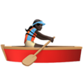 Woman Rowing Boat: Dark Skin Tone on Apple iOS 12.1