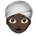 Woman Wearing Turban: Dark Skin Tone on Apple iOS 12.1