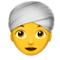 Woman Wearing Turban on Apple iOS 12.1