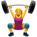 Woman Lifting Weights on Apple iOS 12.1