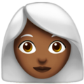 Woman: Medium-Dark Skin Tone, White Hair on Apple iOS 12.1
