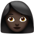 Woman: Dark Skin Tone on Apple iOS 12.1