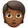 Person: Medium-Dark Skin Tone on Apple iOS 12.2
