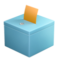 Ballot Box With Ballot on Apple iOS 12.2