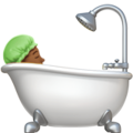 Person Taking Bath: Medium-Dark Skin Tone on Apple iOS 12.2