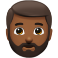 Man: Medium-Dark Skin Tone, Beard on Apple iOS 12.2