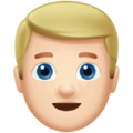 Man: Light Skin Tone, Blond Hair on Apple iOS 12.2