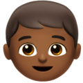Boy: Medium-Dark Skin Tone on Apple iOS 12.2