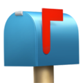 Closed Mailbox With Raised Flag on Apple iOS 12.2
