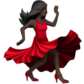 Woman Dancing: Dark Skin Tone on Apple iOS 12.2