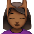 Person Getting Massage: Medium-Dark Skin Tone on Apple iOS 12.2