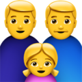 Family: Man, Man, Girl on Apple iOS 12.2