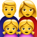Family: Man, Woman, Girl, Girl on Apple iOS 12.2