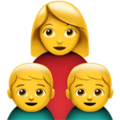 Family: Woman, Boy, Boy on Apple iOS 12.2