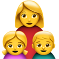 Family: Woman, Girl, Boy on Apple iOS 12.2