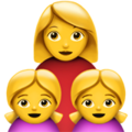 Family: Woman, Girl, Girl on Apple iOS 12.2