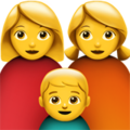 Family: Woman, Woman, Boy on Apple iOS 12.2
